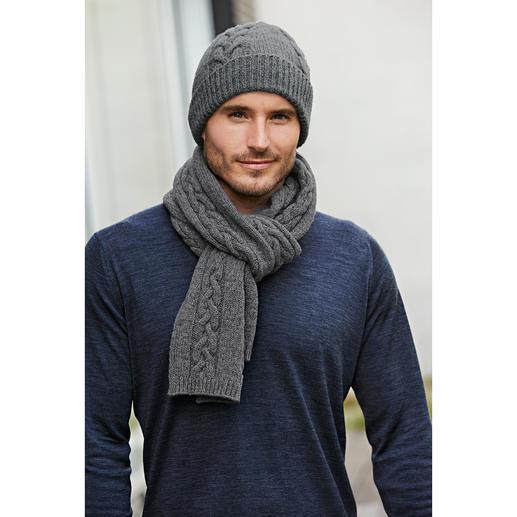 Fisherman kabelpatroon-muts of -sjaal - Zeldzame originelen: deze 'Ierse' kabelpatroon-accessoires komen daadwerkelijk nog uit Ierland.