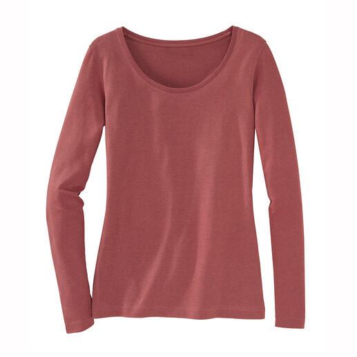 Alpaca-Pima-shirt Het perfecte, winterwarme basic shirt. Geslaagde combinatie van Pima-katoen en baby-alpaca.