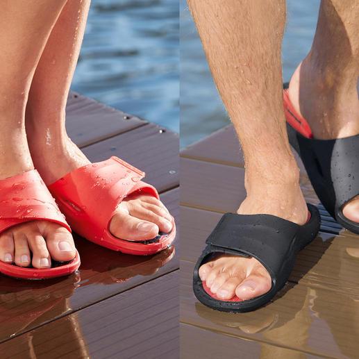 Fashy AquaFeel badschoenen voor dames of heren Glijden niet weg op natte ondergronden. Antibacterieel tegen voetschimmel.