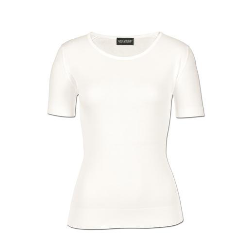 John Smedley 30 gauge-T-shirt, dames Moeilijk te vinden – eenvoudig te combineren: de chique gebreide variant van een klassiek basic shirt.