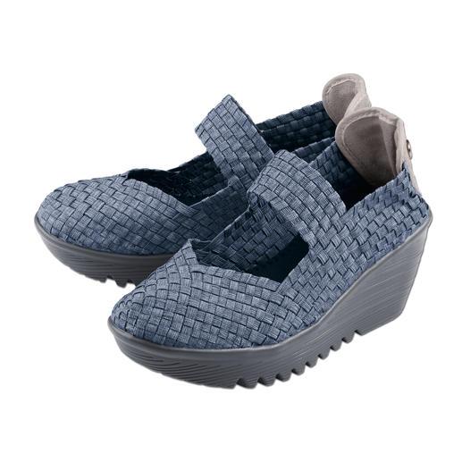 bernie mev. gevlochten sleehakschoenen Comfortabeler, lichter en luchtiger worden modieuze zomerschoenen gewoon niet.