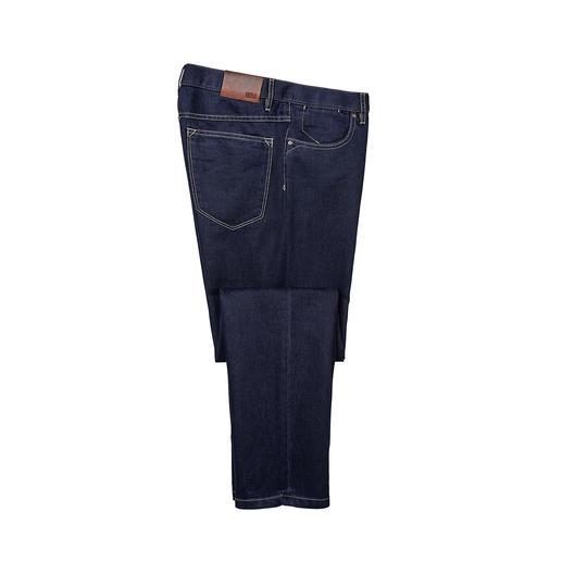 Hiltl spijkerbroek met zijde Opgewaardeerd met zijde: de zomerse, lichte luxe jeans. Gladder. Zachter. Luchtiger. Gedistingeerder.
