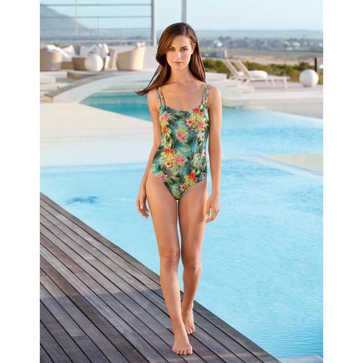SunSelect®-zwempak 'Hibiscus' Dit badpak werkt als een goede zonnebrandcrème. Gemaakt van zondoorlatend SunSelect®.