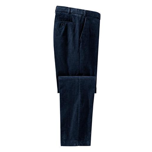 Hoal luxueuze fijncordbroek 52 ribbels per inch: een fijnere cordkwaliteit komt u niet snel tegen. Elegant als fluweel.