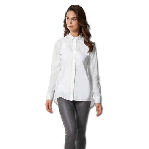 swiss+cotton lange blouse Unieke combinatie: modieuze uitvoering en een sublieme kwaliteit.