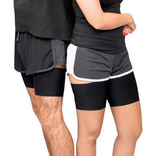 Bovenbeenbandjes, microfiber, uniseks of kant Eindelijk geen last meer van vervelend tegen elkaar aan schurende bovenbenen.