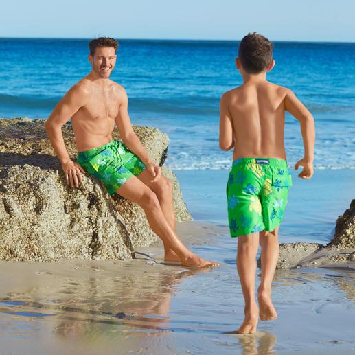 Vilebrequin zwemshort voor vader en zoon Er zijn zwemshorts ... en er is de klassieker van Vilebrequin, St. Tropez.