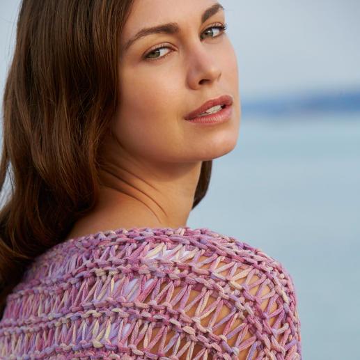 Kero Design trui van lintgaren Met de hand geverfd en gebreid: exclusief lintgaren van baby-alpaca- en merinoswol.