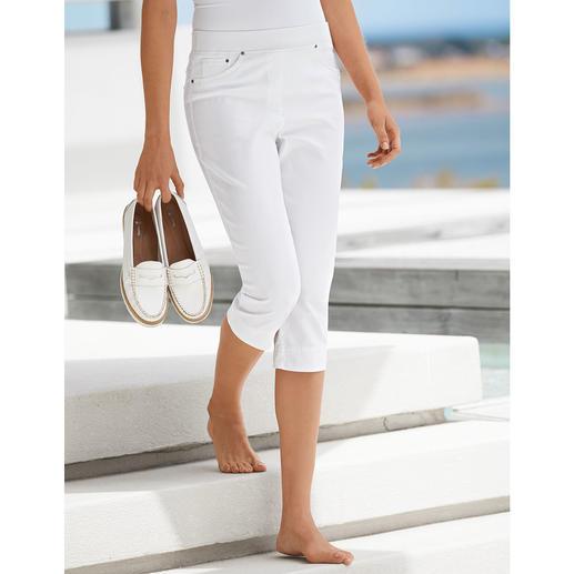 Raphaela by Brax comfortabele capri-jegging, wit Eindelijk: een comfortabele jegging die men ook bij korte bovenstukken kan dragen.