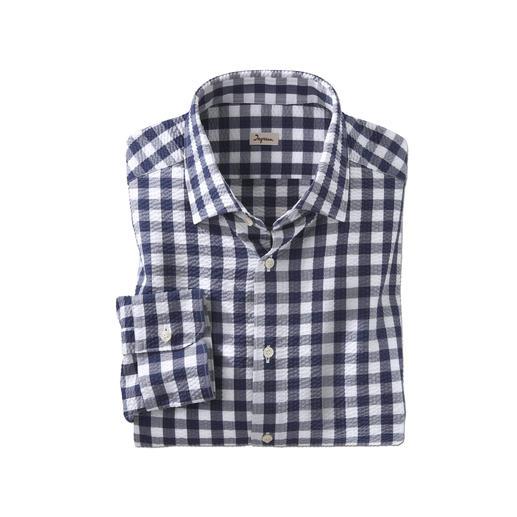 Ingram geruit seersucker- overhemd Luchtig seersuckerweefsel. Klassiek ruitmotief. Maar zeker niet te sportief. Van Ingram.