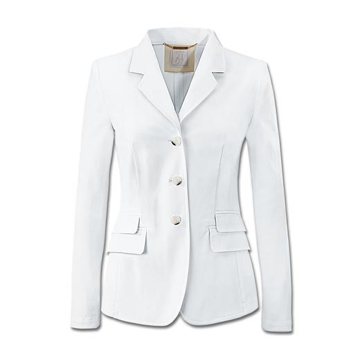 Wasbare witte blazer Eenvoudig wassen, drogen en weer dragen. En telkens anders te combineren.