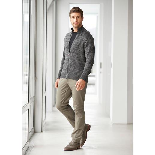 Inis Meáin linnen vest met ritssluiting Zo verfrissend (en zo stijlvol) kan een gebreid vest zijn.