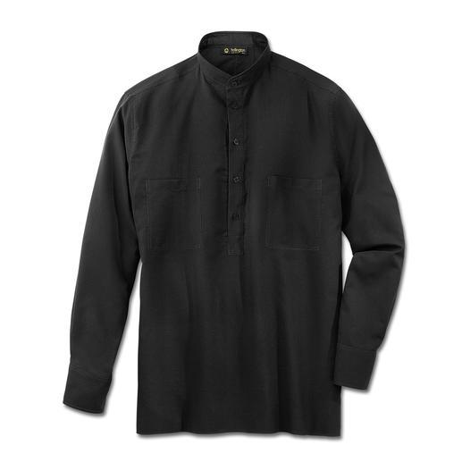 Hollington Nehru-katoenoverhemd Hollingtons originele overhemd met opstaande boord.