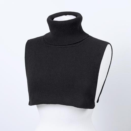 Liu Jo col-inzet , zwart De col is terug. En in deze vorm niet propperig en nooit te warm. Chic, trendy, flexibel. Van Liu Jo, Italië.