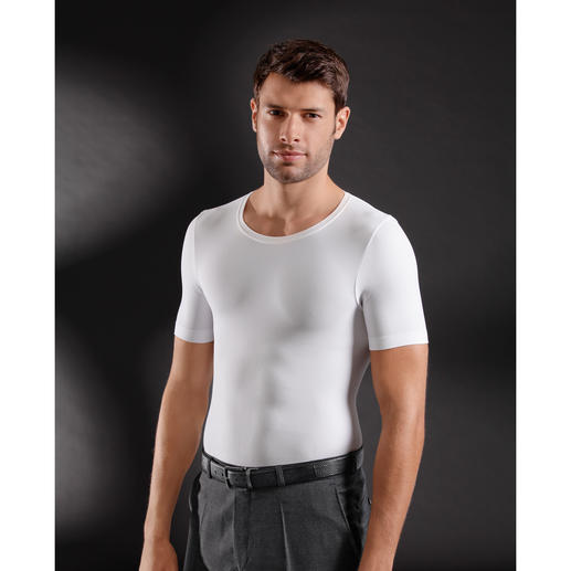 ITEM m6 shape-T-shirt 'Six-Pack' De shapewear-innovatie voor mannen: T-shirt met six-pack-effect. Van ITEM m6.