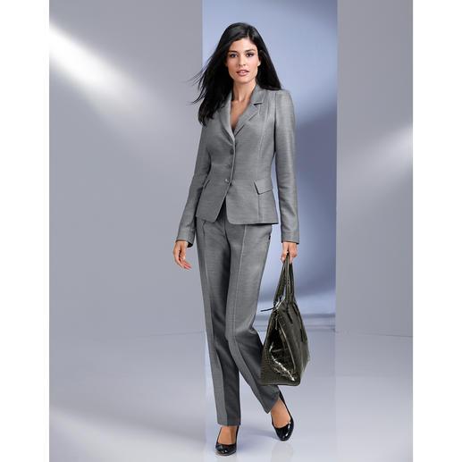 Barbara Schwarzer 'platina'-blazer of -pantalon Het ideale designerkostuum voor elke dag.