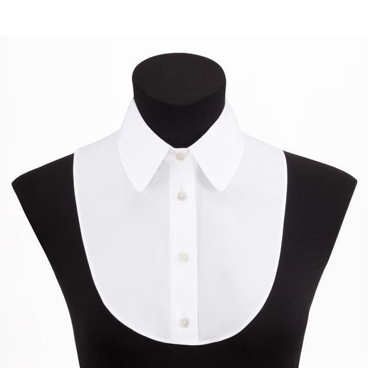 van Laack blousekraag, wit De elegante look van een blouse, maar dan zonder dat het vervelend zit of aftekent. Van van Laack.