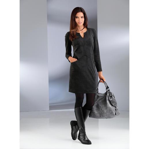 Alcantara®-jurk De trendy look van suèdeleer, maar dan machinewasbaar. Betaalbare modieuze jurk van fluweelzacht Alcantara®.