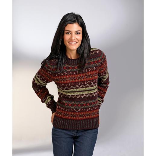 Eribé Fair Isle-dames- of herentrui Raakt nooit uit de mode, maar is toch moeilijk te vinden: de originele Fair Isle-trui.