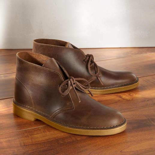 Clarks Desert Boots 'Chromexcel' Al meer dan 65 jaar een cult-klassieker – nu van robuust, soepel gladleer.