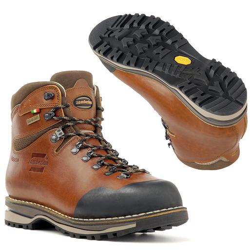Zamberlan® handmade-wandelschoenen Van robuust leer, met de hand gemaakt en rondom doorgestikt. Waterdicht en ademend verwerkt.