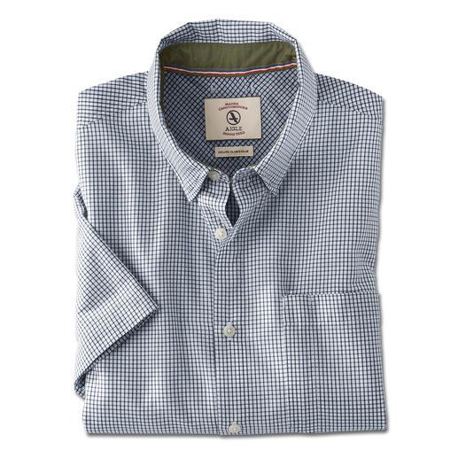 Aigle outdooroverhemd Zo stijlvol kan een functioneel outdoor-shirt zijn. Van Aigle, Frankrijk.