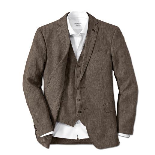 Carl Gross linnen colbert of gilet Op-en-top een gentleman – ook bij temperaturen boven de 30 graden.
