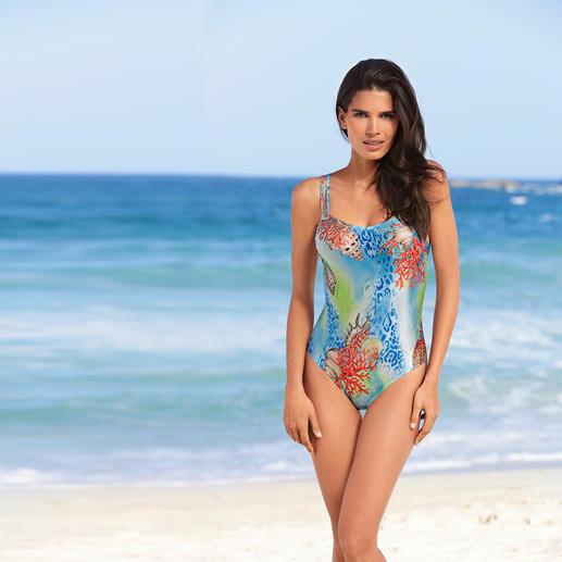 SunSelect®-zwempak 'Koraal' Dit badpak werkt als een goede zonnebrandcrème. Gemaakt van zondoorlatend SunSelect®.