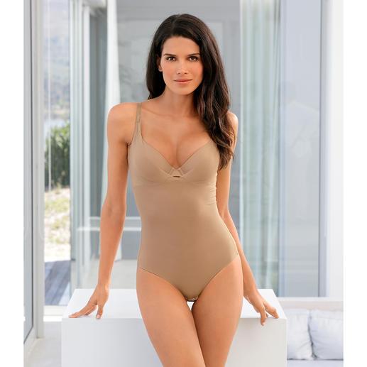 Zomer-shaping-body Zacht modellerend en heerlijk licht en luchtig. De shaping-body van ventilerend meshweefsel.