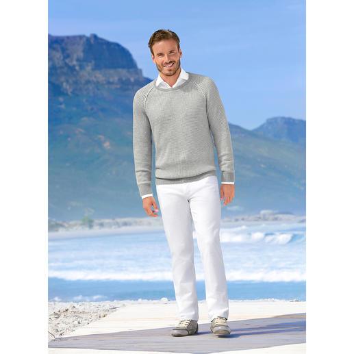 Carbery trui in patentbreisel Opvallend gestructureerd patentbreisel – zeldzaam licht en luchtig. Van Carbery.