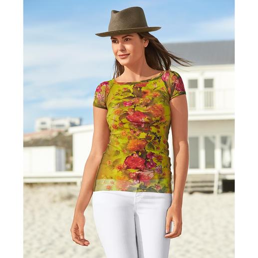 Fuzzi onderhoudsarm shirt Ultralicht, ongecompliceerd en zo elegant als een blouse. Van Fuzzi, Italië.