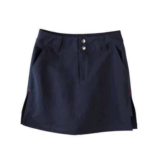 key West functionele skort Skort: van buiten een skirt, van binnen een short. De geniale functionele rok van Key West, Kopenhagen.