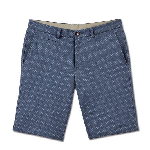 Gentleman-bermuda die aanvoelt als een joggingbroek. Gentleman-bermuda die aanvoelt als een joggingbroek. Van softe jersey in jacquarddessin.