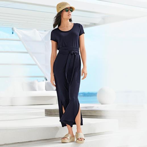 Tencel® maxi-jurk - Een zeldzaam elegante jerseyjurk. Zijdeachtige Tencel-jersey. Trendy maxi-belijning.