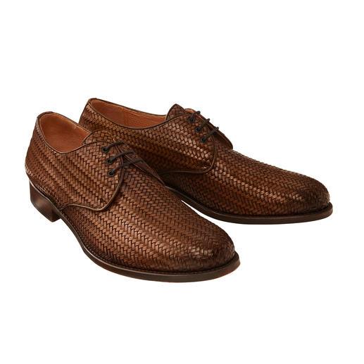 Cordwainer gevlochten schoenen Zo netjes als klassieke businessschoenen, maar veel luchtiger. Van Cordwainer, Spanje.