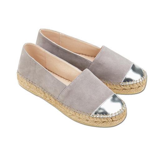 Macarena® nubuck-espadrilles Metálico De casual look van espadrilles, maar dan zo duurzaam als uw favoriete ballerina's. Van Macarena®.