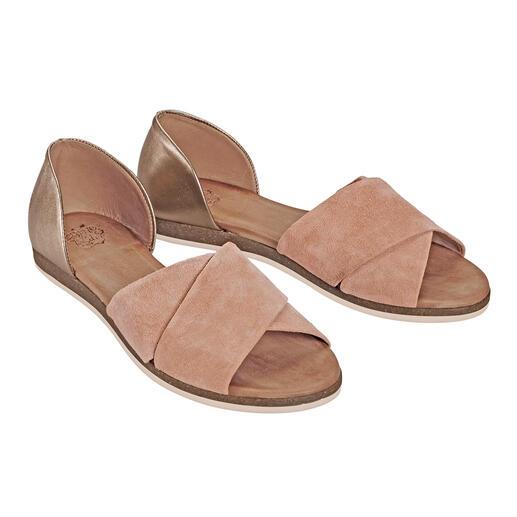 Apple of Eden sandalen met gekruiste bandjes Modieus interessant, eleganter dan de meeste en zeer fair geprijsd. Van Apple of Eden.