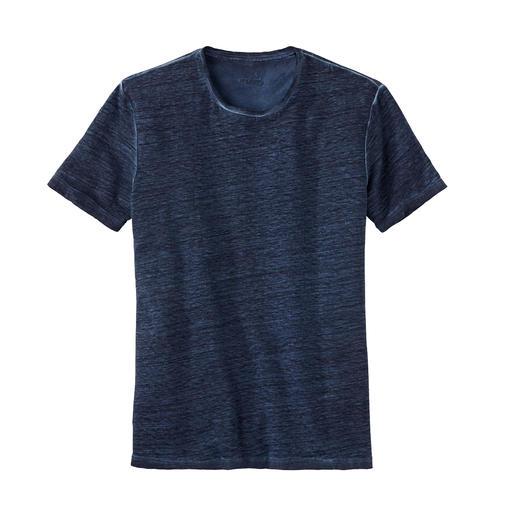 van Laack T-shirt van linnen Uw natuurlijke airco op warme dagen: het T-shirt van zuiver linnen. Van overhemdenspecialist van Laack.