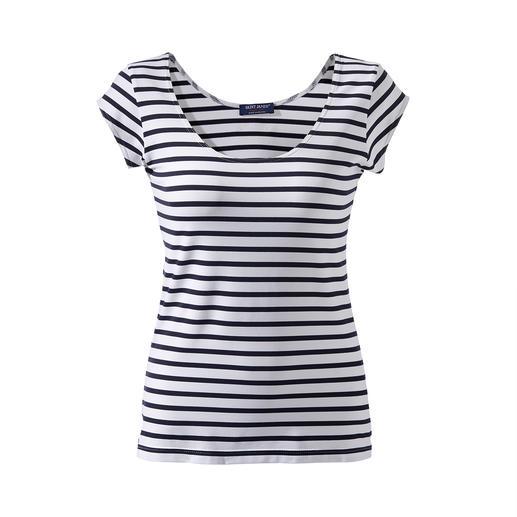 Bretagne-shirt van microfiber Al meer dan 15 jaar het lievelingsshirt in de collectie van Saint James. Het Bretagne-shirt gemaakt van Meryl®.