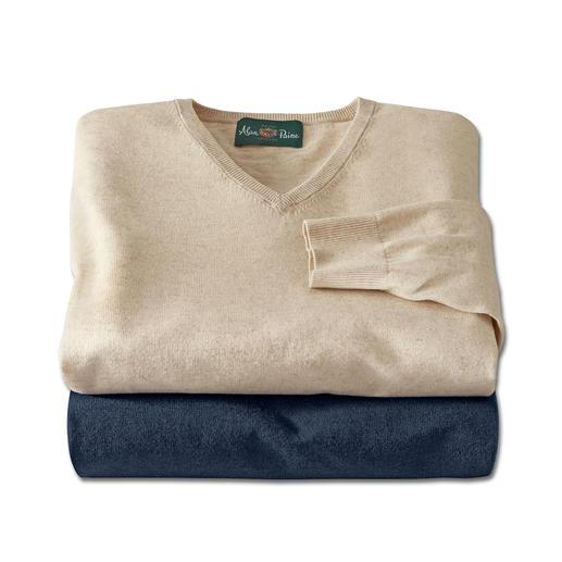 Alan Paine trui van linnen-katoen Perfect voor de zomer. Ideaal voor het hele jaar. De fijngebreide trui van linnen en katoen.