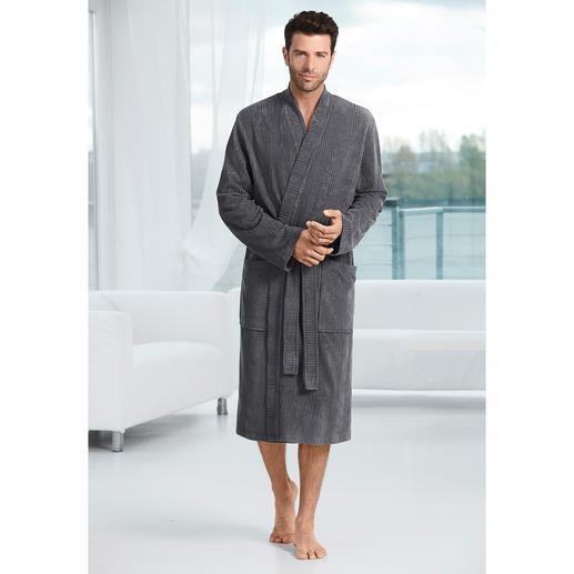 Taubert badjas voor heren Stoere cord-look in plaats van zachte badstof. De badjas voor heren, van homewear-specialist Taubert.