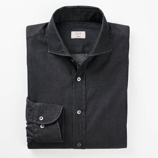 Dufour luxe- jeansoverhemd Luxueus volgetwijnd denim in 4,5-oz-kwaliteit. Veel fijner, lichter en verzorgder dan normaal.