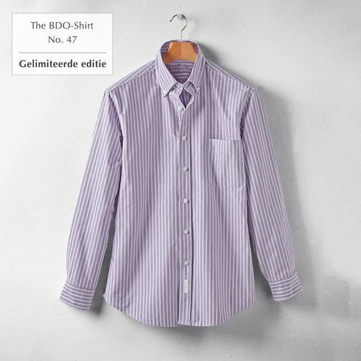 The BDO-Shirt No.47, gestreept Ontdek een goede oude vriend. En vergeet dat een overhemd moet worden gestreken.
