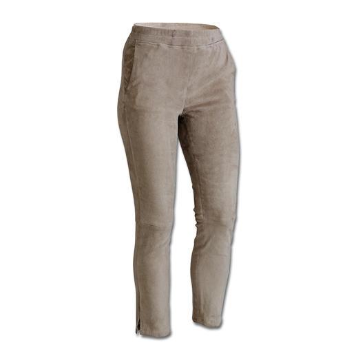 Arma lamssuèdeleren jogging-broek Casual en elegant in precies de juiste verhouding. De 'jogging-broek' van luxueus suèdeleer.