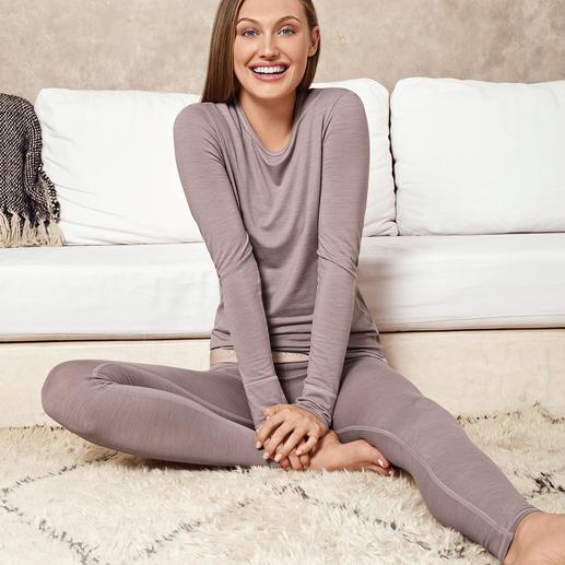 Active Wool ondermode van Skiny Active Wool: zacht, kriebelvrij en niet te warm. De perfecte ondermode voor elke dag en voor het hele jaar.