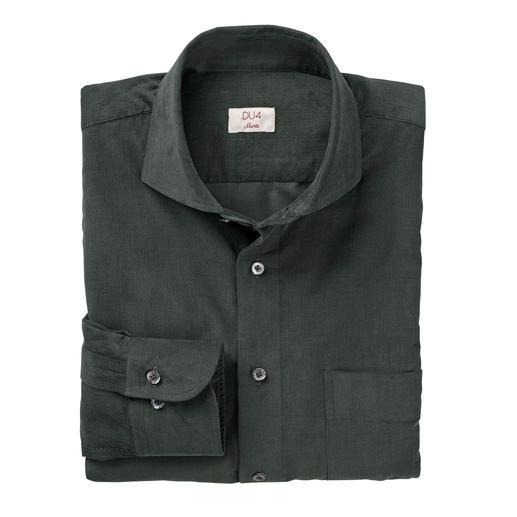 DU4 fijncord-overhemd Zo fijn kan fijncord zijn: dit vrijetijds-overhemd is zo stijlvol als een business-overhemd.