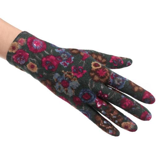 Ixli fleece-handschoenen Vrolijk gekleurd in plaats van saai unikleurig. Fleece-handschoenen van Ixli, Frankrijk.