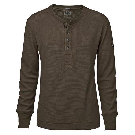 super.natural henleyshirt Warmer, zachter en interessanter dan de meeste exemplaren: het henleyshirt van super.natural.