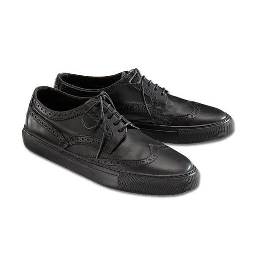 Stijlvol als een luxueuze nette schoen. Comfortabel als uw favoriete sneaker. Stijlvol als een luxueuze nette schoen. Comfortabel als uw favoriete sneaker. Van Fratelli Rossetti, Italië.