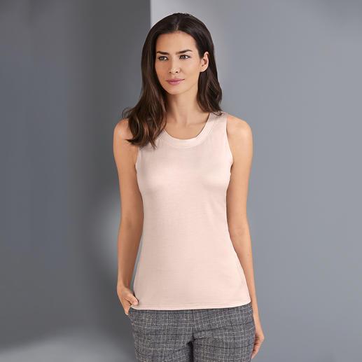 Stijlvolle zijden top Overleeft vele generaties goedkope tops. Zeldzame luxe gemaakt van 95% zijde: de stijlvolle basic.